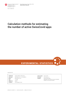 Calculation methods for estimating the number of active SwissCovid apps
